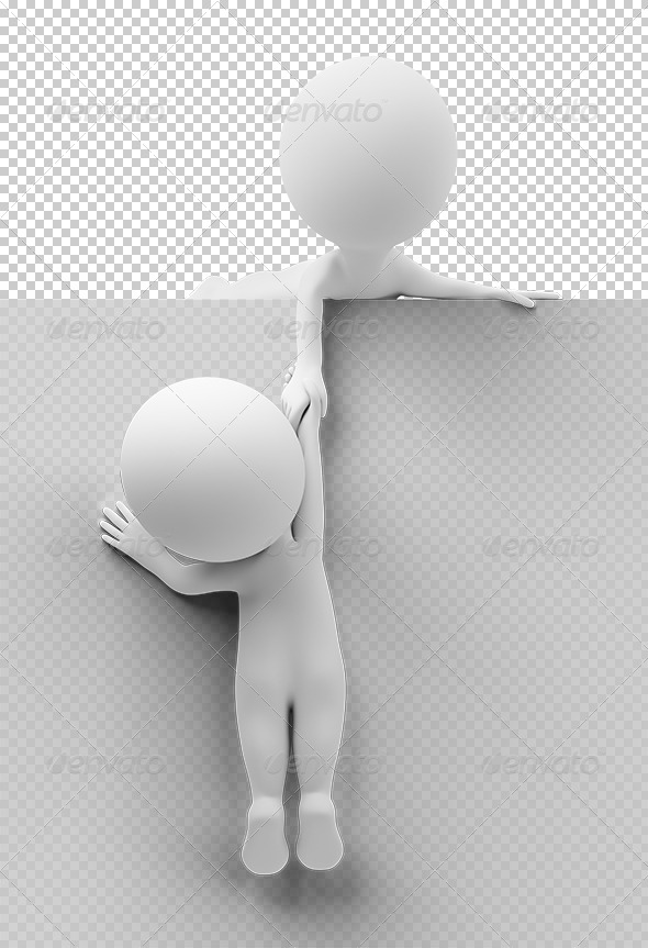 GraphicRiver 3D small people help to the friend 5447976