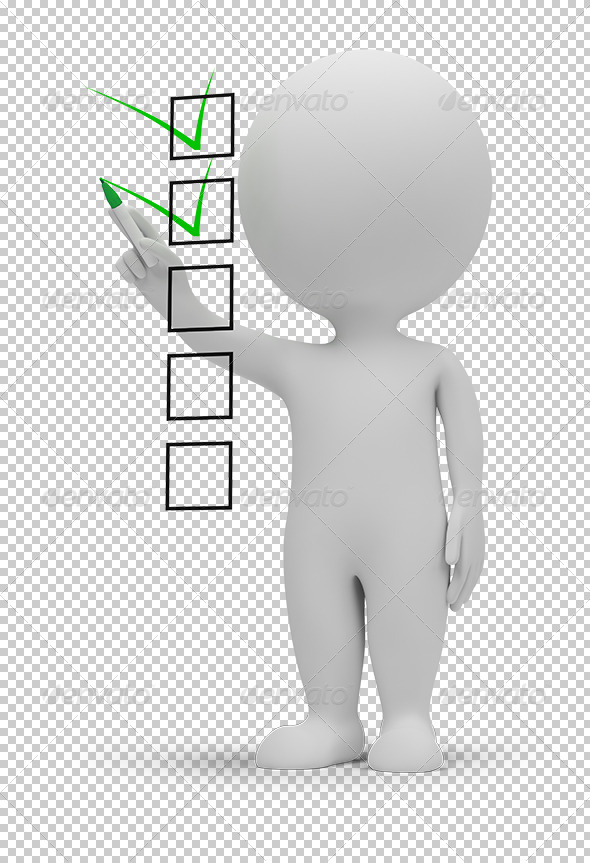 GraphicRiver 3D small people checklist 5448000