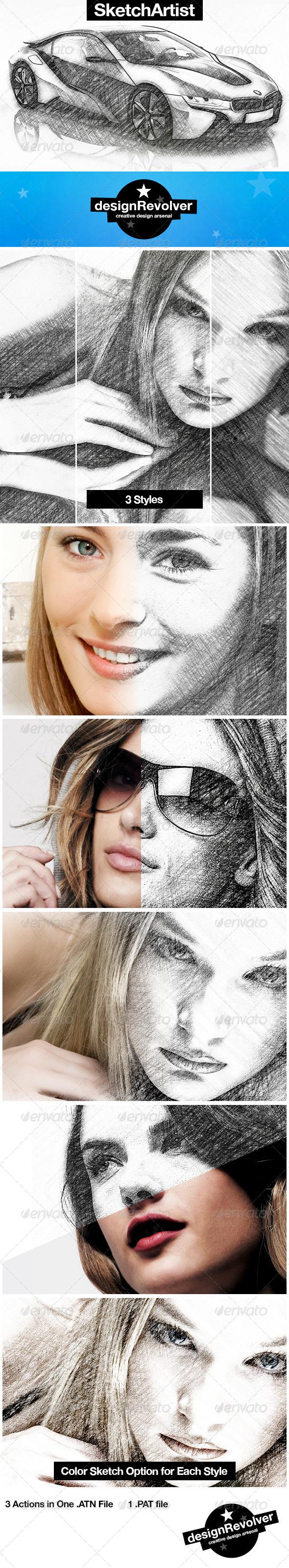 GraphicRiver Sketch Artist Photoshop Action 5448005