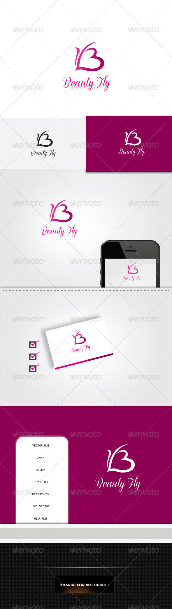 GraphicRiver Beauty Fly Logo 5448145