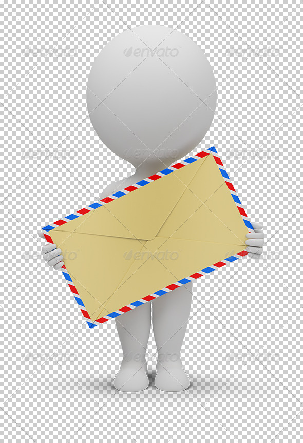 GraphicRiver 3D small people envelope 5448292