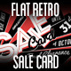 Flat Retro Sale Card - GraphicRiver Item for Sale