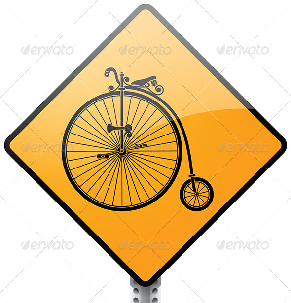 GraphicRiver Penny farthing bicycle sign vector 5448341