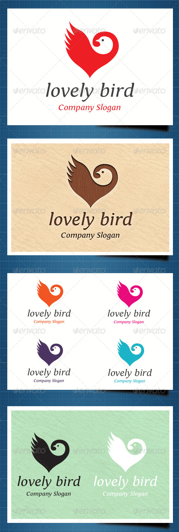GraphicRiver Lovely Bird Logo template 5448389
