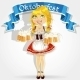 Girl in Traditional Costume Oktoberfest - GraphicRiver Item for Sale