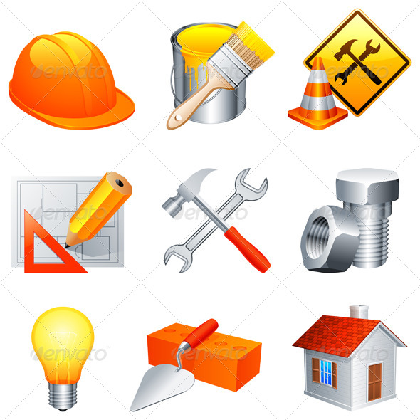 GraphicRiver Construction Icons 5448913