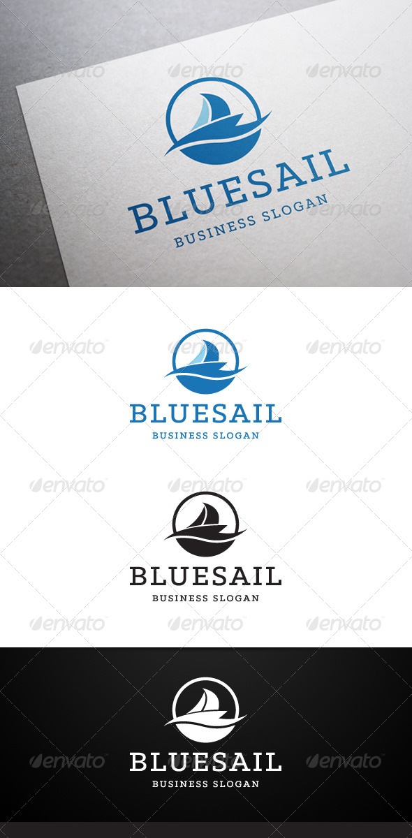 GraphicRiver Blue Sail Logo 5448919