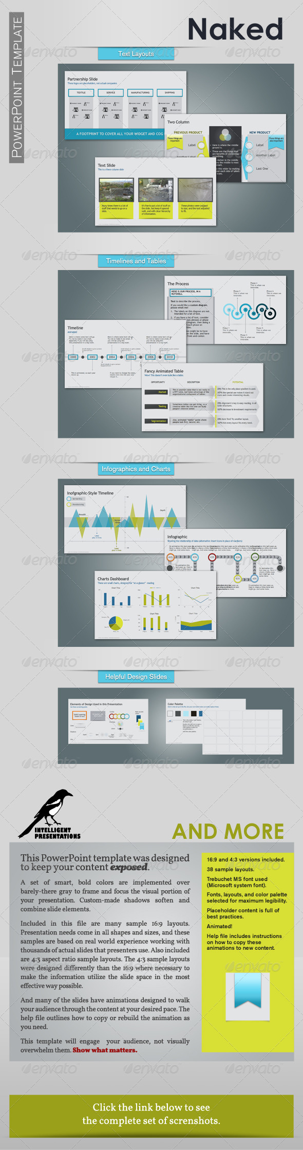 Naked PowerPoint Template - Presentation Templates