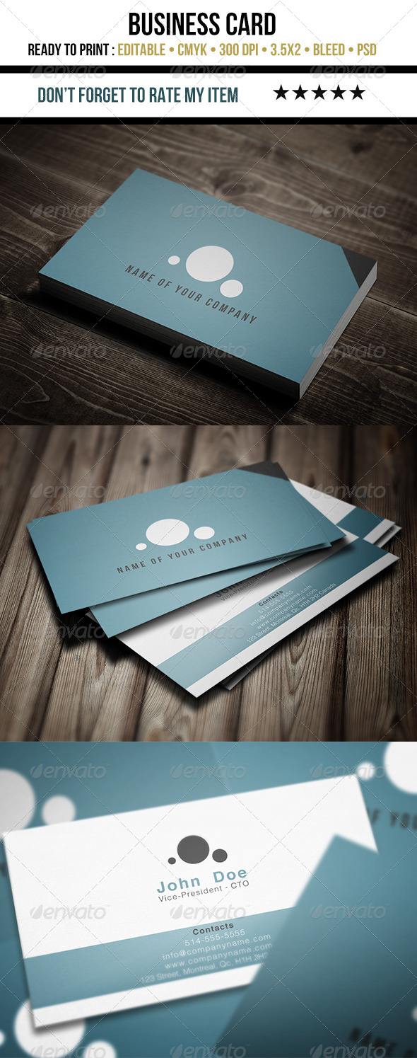 GraphicRiver Business Card Flat Design 5450436