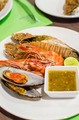Set of Grilled Seafood with spicy sauce - PhotoDune Item for Sale