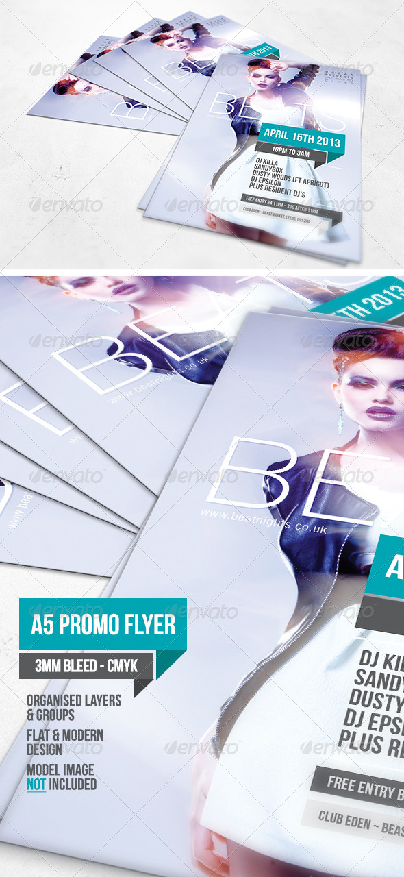 GraphicRiver Beats A5 Flyer Template 5451502