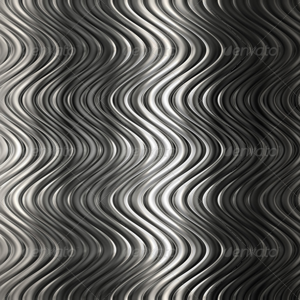 Aluminum silver stripe pattern - Stock Photo - Images