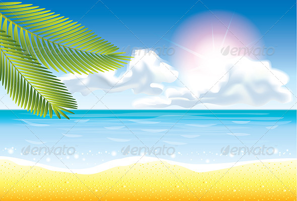 GraphicRiver Summer Beach Vector Background 5453735