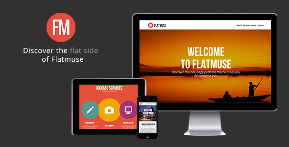Flatmuse - One Page Muse Theme - Creative Muse Templates