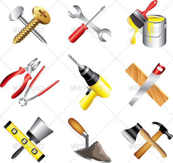 GraphicRiver Construction Tools Icons Set 5454325