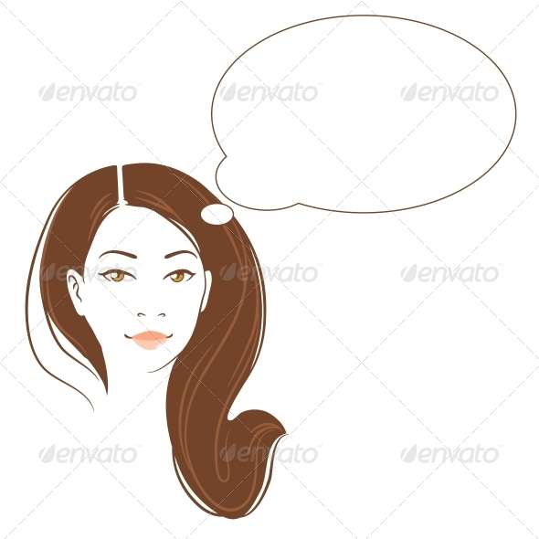 GraphicRiver Vector Portrait of Asian Woman 5454636