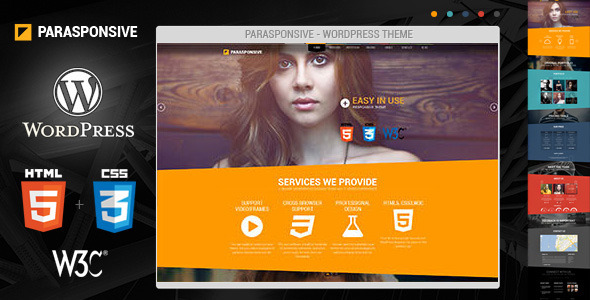 ThemeForest Parasponsive Corporate WordPress 5454721
