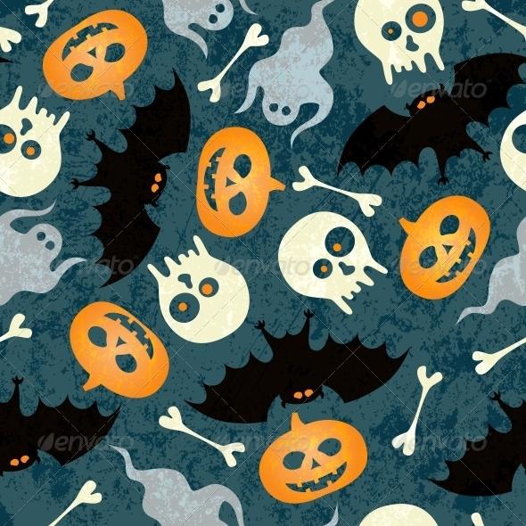 GraphicRiver Halloween Seamless Pattern 5455083