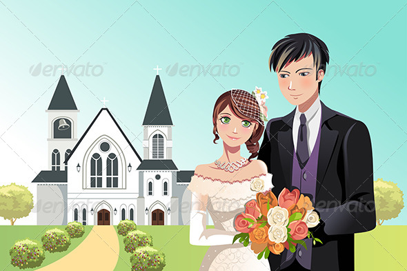GraphicRiver Couple getting married 5455110