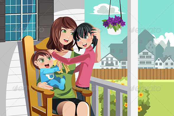 GraphicRiver Mother and children 5455112