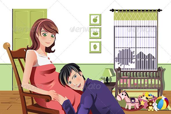 GraphicRiver Happy Pregnant Couple 5455151
