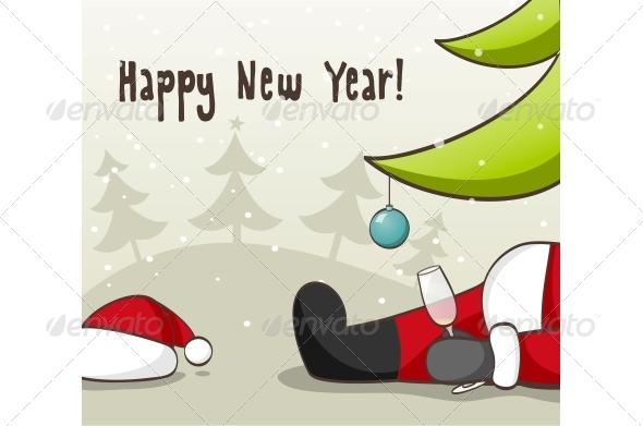 GraphicRiver Drunk Santa Claus 5455162