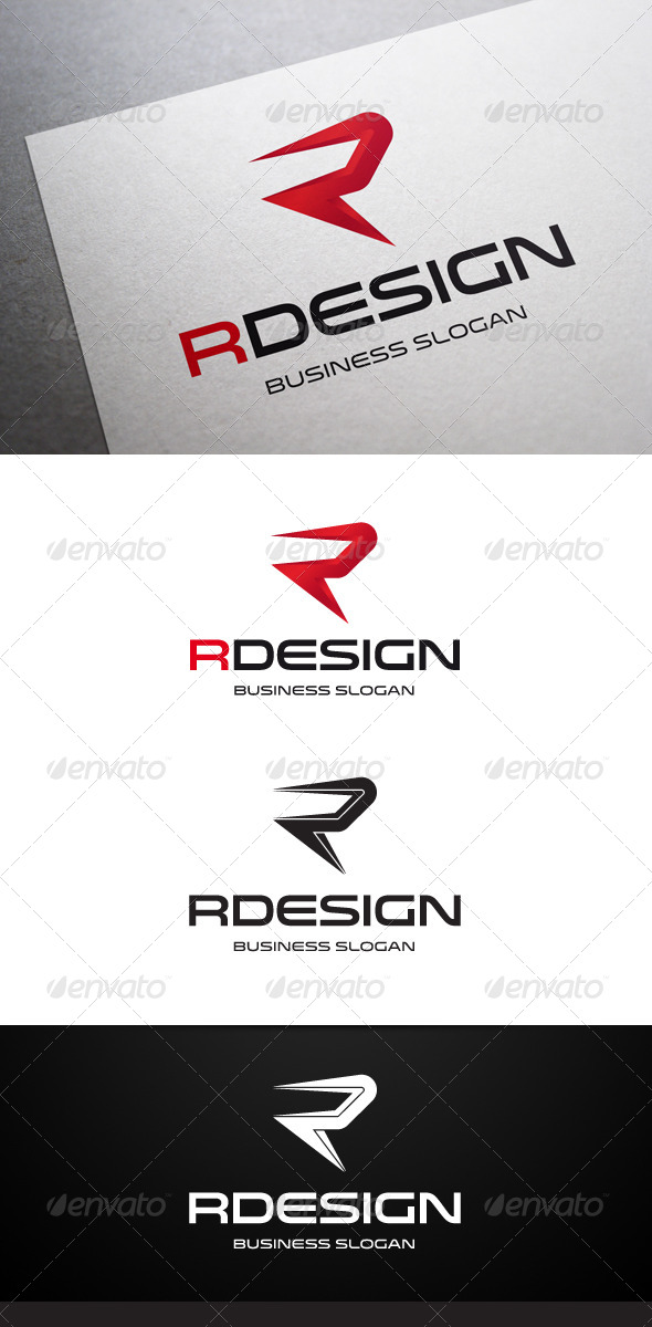 GraphicRiver Rdesign R Letter Logo 5455258
