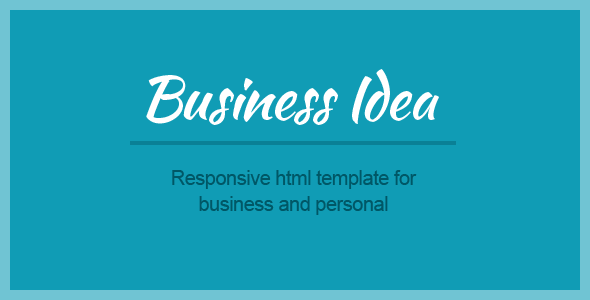 Business Idea - Multi-purpose HTML5 template