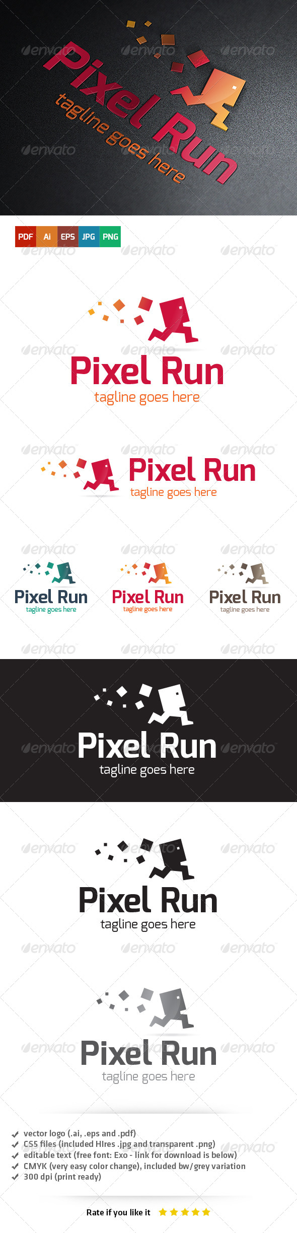 GraphicRiver Pixel Run Logo 5455564