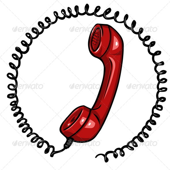 GraphicRiver Vector Red Phone Icon 5456477