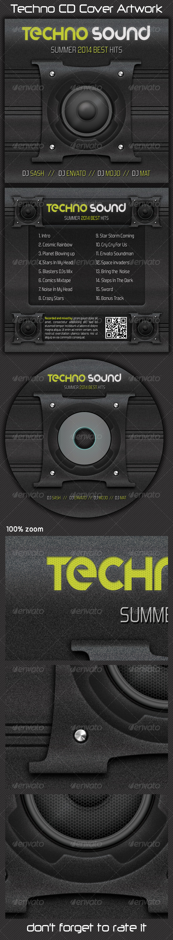 GraphicRiver Techno CD Cover Artwork 5456880