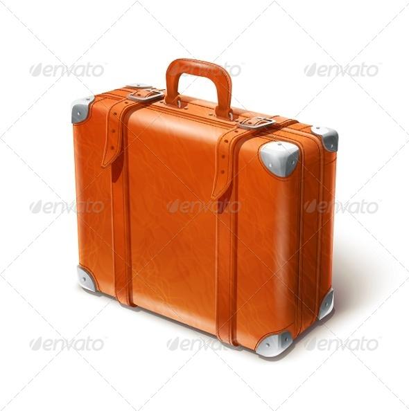GraphicRiver Leather Big Suitcase 5456883