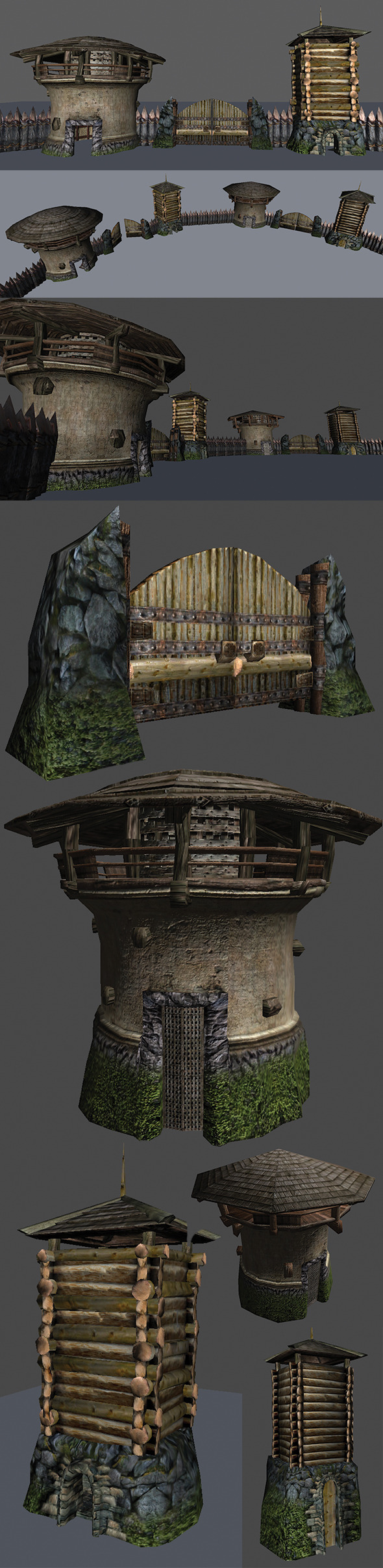 3DOcean Fort Elements Pack 5457635