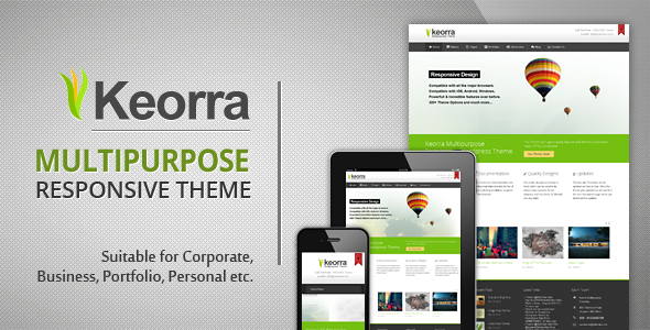Keorra Multipurpose Responsive Wordpress Theme - Business Corporate