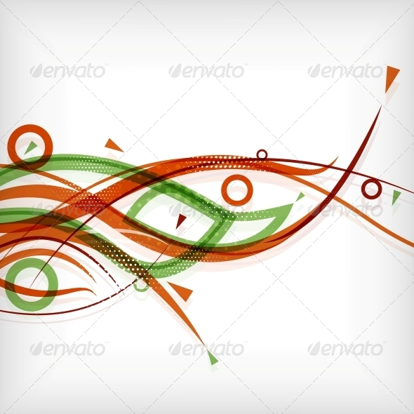 GraphicRiver Modern Abstract Lines Minimal Background 5458424