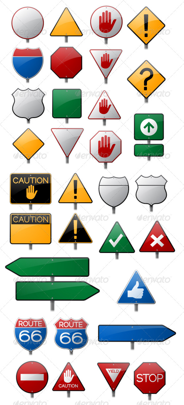 GraphicRiver Road Sign Collection 5448304