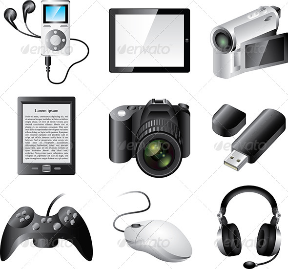 GraphicRiver Electronic Devices Vector Set 5458783