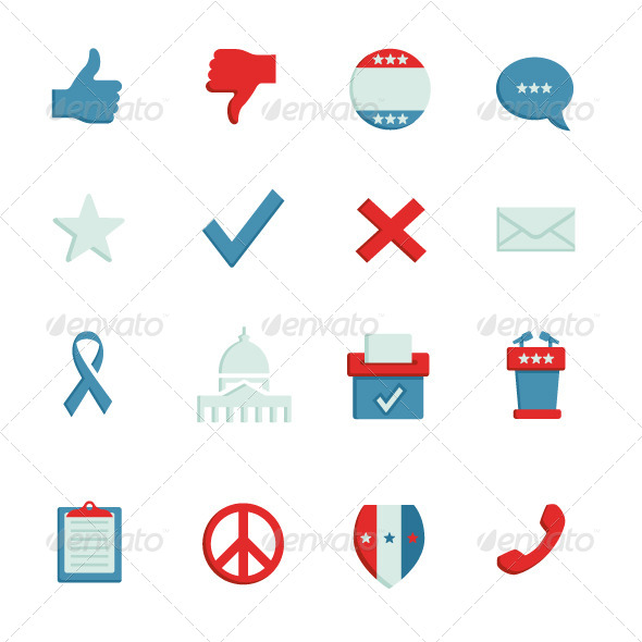 GraphicRiver Political Icons 5459239
