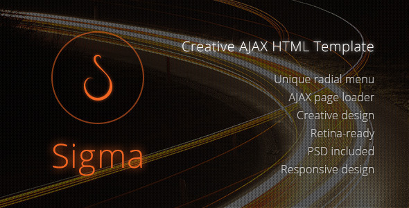 ThemeForest Sigma Creative AJAX HTML Template 5448172