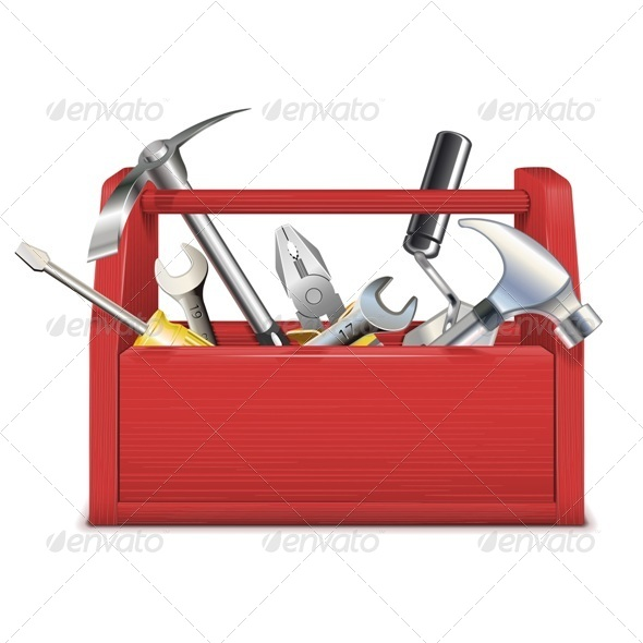GraphicRiver Vector Red Toolbox 5460354