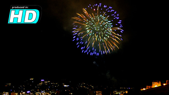 VideoHive Fireworks Summer Time Lapse 5352112