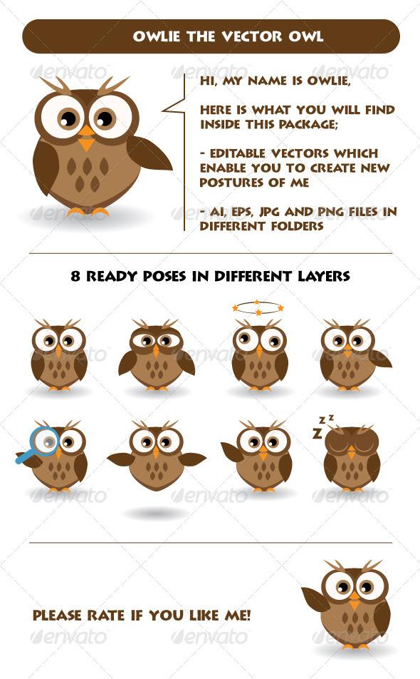 GraphicRiver Owlie Vector Owl Mascot 5450672