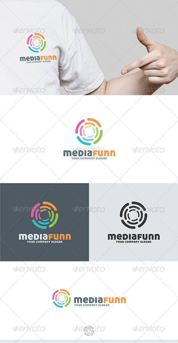 Media Funn Logo - Vector Abstract
