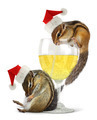 Funny drunk santas, chipmunks dress santa hat - PhotoDune Item for Sale
