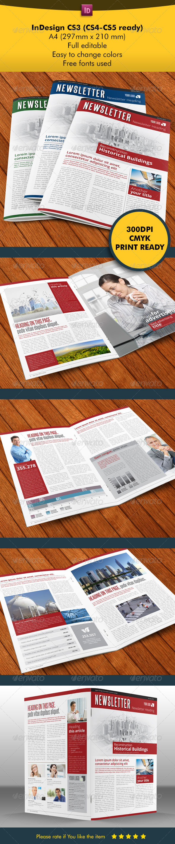 NewsLette Light and Clean - Newsletters Print Templates