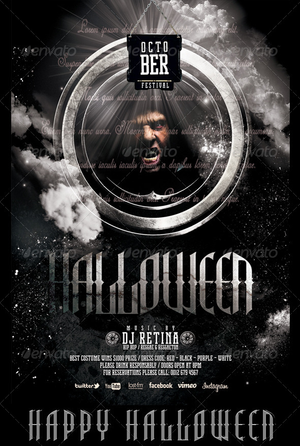 GraphicRiver October Fest Halloween Flyer Template 5463985