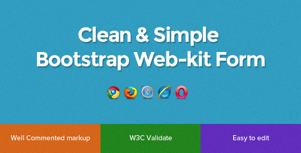 CodeCanyon Sleek-kit Clean & Simple Bootstrap Form 5458523