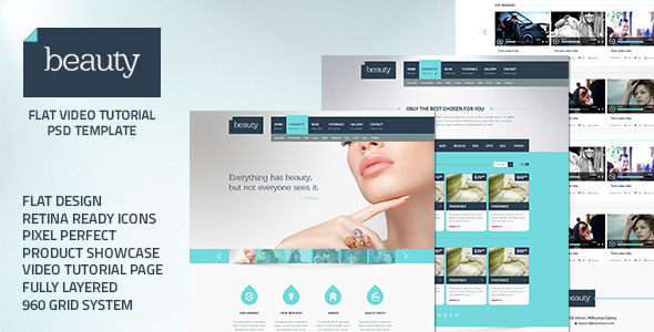 ThemeForest Beauty Flat Multipurpose Psd Template 5466224
