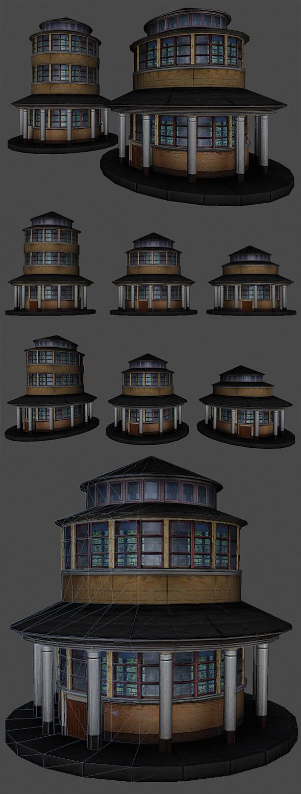 3DOcean Round Building 5466225