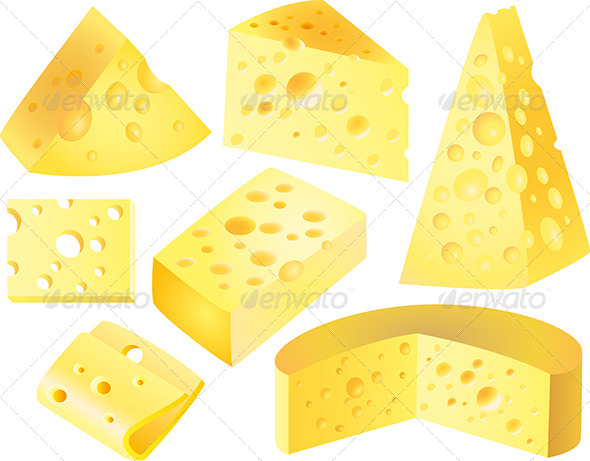GraphicRiver Cheese Photo-Realistic Vector Set 5435114